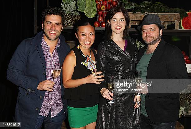 Former Masterchef contestants Andre Ursini, Poh Ling Yeow, Julia Jenkins and Chris Badenoch attend the Masterchef Australia Network Ten launch party,...