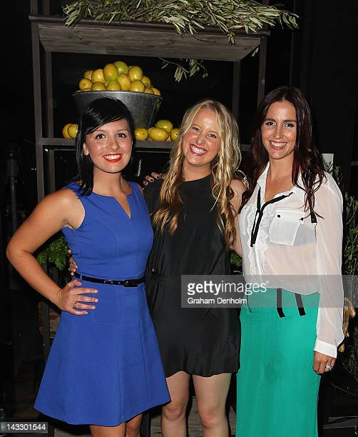 Former Masterchef contestants Dani Venn, Ellie Paxton-Hall and Alana Lowe attend the Masterchef Australia Network Ten launch party, launching the new...