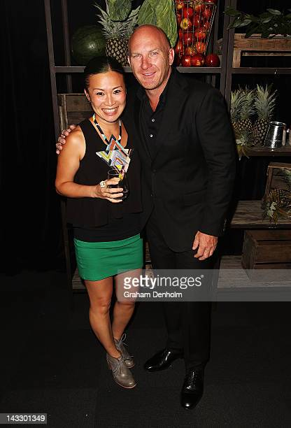 Former Masterchef runner-up Poh Ling Yeow and Masterchef judge Matt Moran attend the Masterchef Australia Network Ten launch party, launching the new...