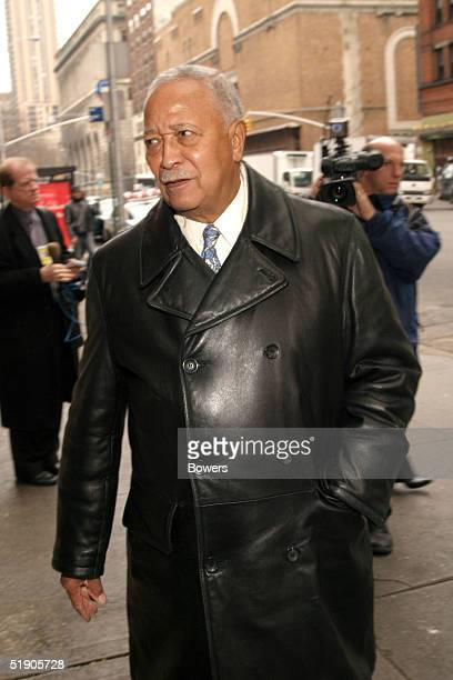 Former Mayor David Dinkins attends the funeral for Jerry Orbach at Riverside Chapel December 31 2004 in New York City