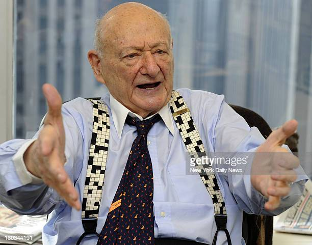 Former Mayor Ed Koch photographed at the Law Offices of Cave Bryan 1290 Avenue of the Americas New York