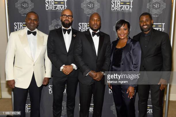 Former Mayor of Atlanta Kasim Reed Kenny Burns Jeezy Mayor of Atlanta Keisha Lance Bottoms and Ryan Glover attend Jeezy's Inaugural SnoBall for his...