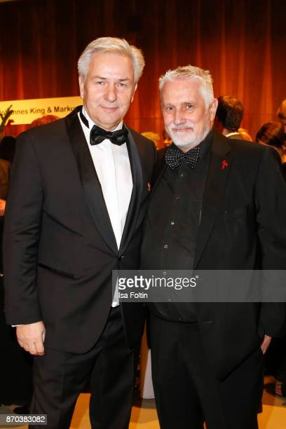 Former mayor of Berlin Klaus Wowereit and his husband Joern Kubicki during the 24th Opera Gala at Deutsche Oper Berlin on November 4 2017 in Berlin...