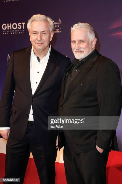 Former mayor of Berlin Klaus Wowereit and his husband Joern Kubicki during the premiere of 'Ghost Das Musical' at Stage Theater on December 7 2017 in...