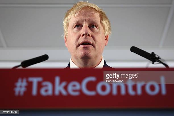 Former Mayor of London Boris Johnson delivers a 'Vote Leave' speech on May 9, 2016 in London, England. Mr Johnson laid out his case for 'Brexit' to...
