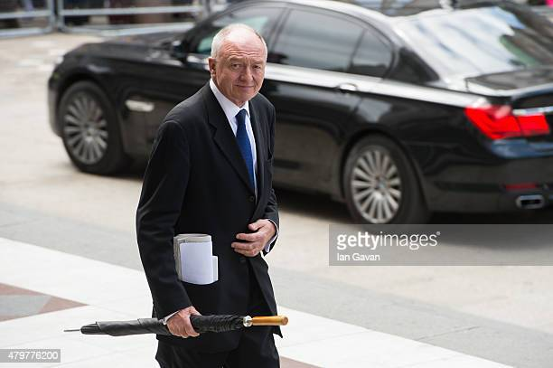 Former Mayor of London Ken Livingstone departs after the service to commemorate the tenth anniversary of the London 7/7 bombings at St Pauls...