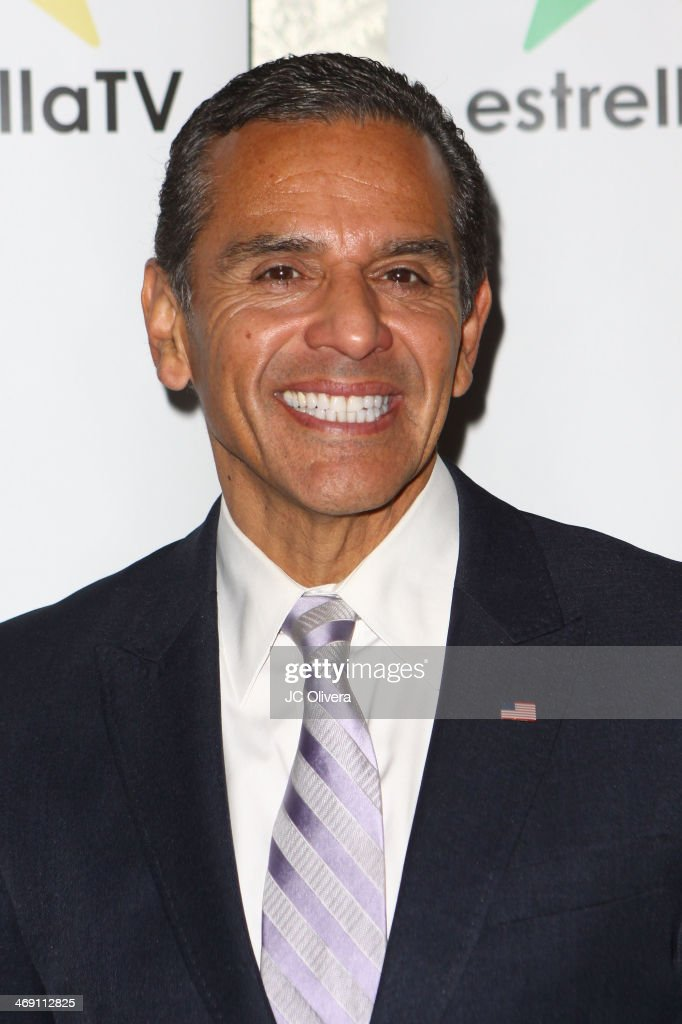 Former Mayor of Los Angeles Antonio Villaraigosa attends Estrella TV welcoming party as a new member of Estrella TV at The Conga Room at L.A. Live on February 12, 2014 in Los Angeles, California.