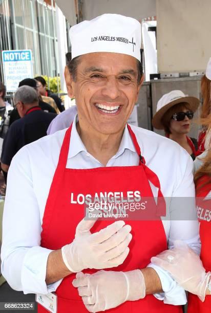 Former Mayor of Los Angeles Antonio Villaraigosa attends Los Angeles Mission's Easter Celebration at Los Angeles Mission on April 14 2017 in Los...