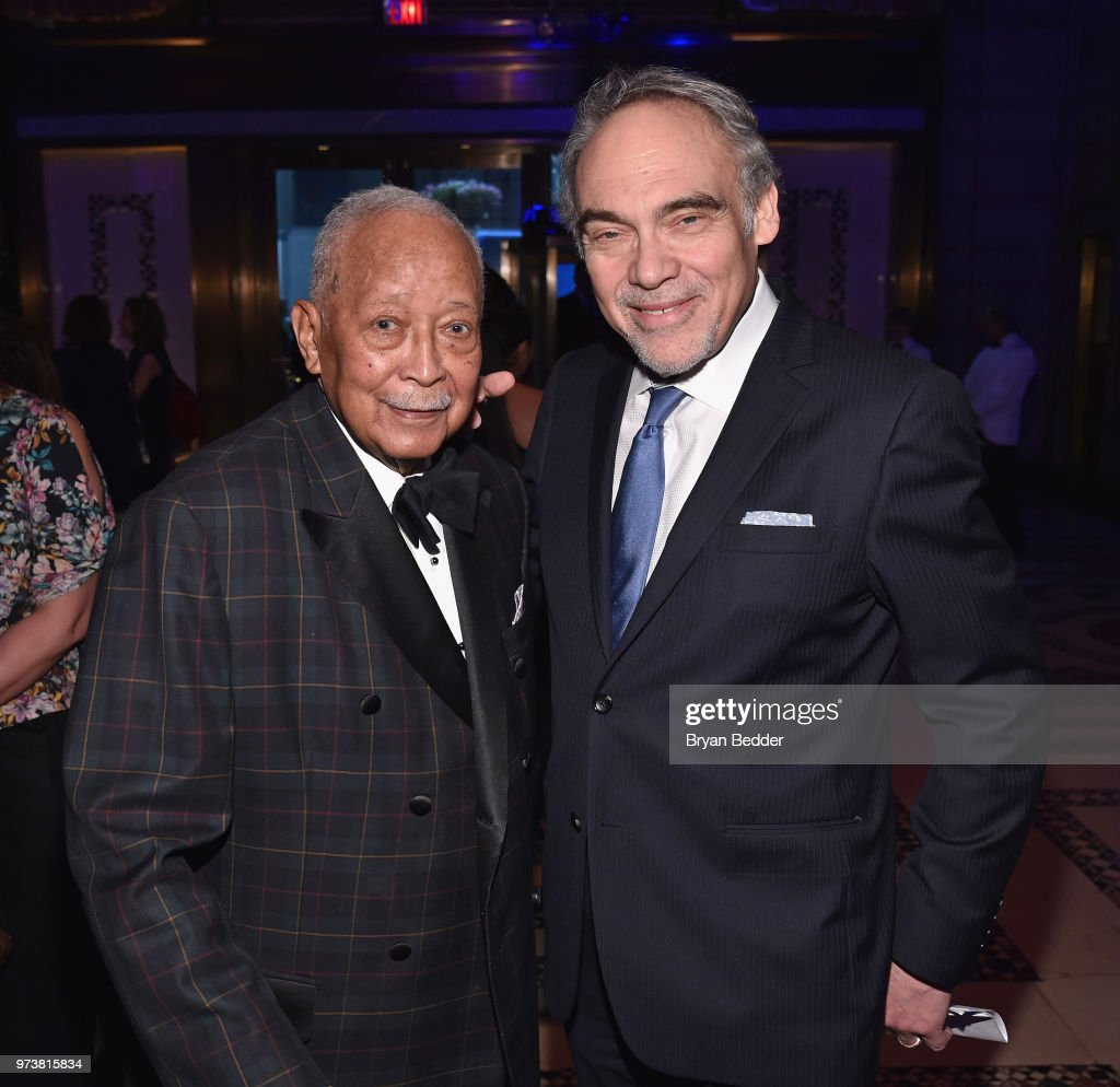 Former Mayor of New York City David Dinkins (L) and President Emeritus & Co-Founder, Children's Health Fund Irwin Redlener, MD attend the Children's Health Fund 2018 Annual Benefit at Cipriani 42nd Street on June 13, 2018 in New York City.