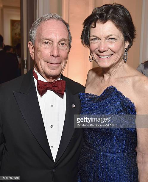 Former Mayor of New York City Michael Bloomberg and Diana Taylor attend the Bloomberg Vanity Fair cocktail reception following the 2015 WHCA Dinner...