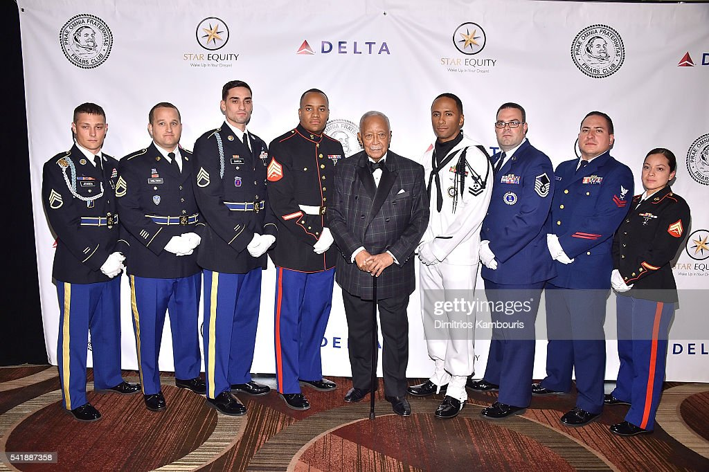 Former mayor of New York, David Dinkins and Armed Forces attend as the Friars Club Honors Tony Bennett With The Entertainment Icon Award - Arrivals at New York Sheraton Hotel & Tower on June 20, 2016 in New York City.