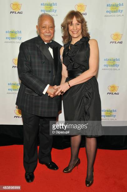 Former Mayor of New York David Dinkins and comedian Lizz Winstead attend the PFLAG National Straight For Equality Awards at Marriott Marquis Times...