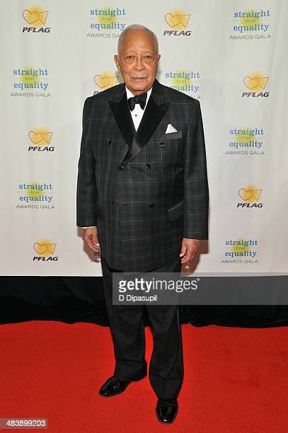 Former Mayor of New York David Dinkins attends the PFLAG National Straight For Equality Awards at Marriott Marquis Times Square on April 10 2014 in...
