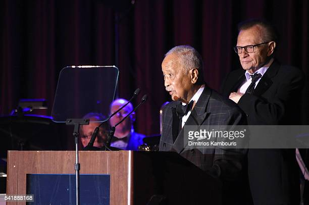Former mayor of New York David Dinkins speaks as the Friars Club Honors Tony Bennett With The Entertainment Icon Award Inside at New York Sheraton...