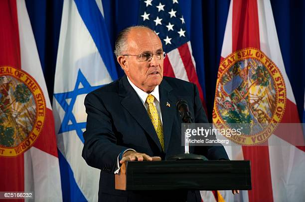 Former Mayor of New York Rudy Giuliani speaks to members of the Jewish Community about Mitt Romney and why he would make a better President than...