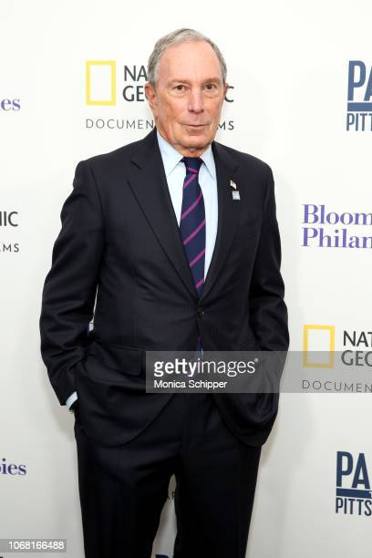Former Mayor of NYC and Founder of Bloomberg Philanthropies Michael Bloomberg attends the New York Premiere of Paris to Pittsburgh hosted by...