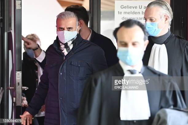 Former Mechelen alderman Melikan Kucam pictured after the verdict of the trial of former Mechelen alderman Melikan Kucam and nine other persons,...