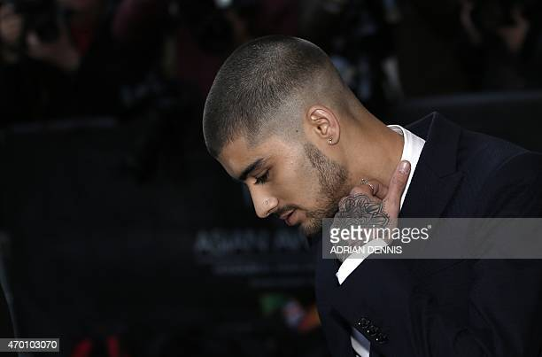 Former member of British boy band One Direction Zayn Malik arrives for the Asian awards in central London on April 17 2015 DENNIS