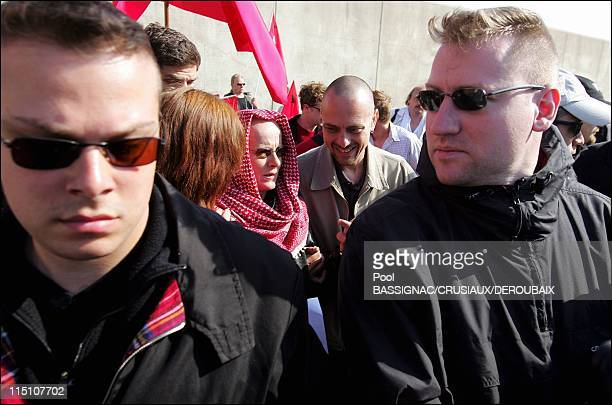 Former member of French terrorist group Action Directe Joelle Aubron released from Bapaume prison in Bapaume France on June 16 2004 Bassigna...