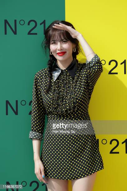 Former member of girl group 4minute, Hyun-A attends the photocall for N21 on August 06, 2019 in Seoul, South Korea.