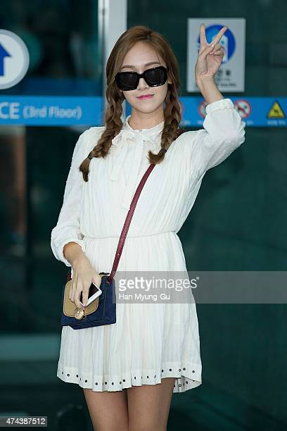 Former member of Girl's Generation Jessica sun glasses detail is seen on departure at Incheon International Airport on May 22 2015 in Incheon South...