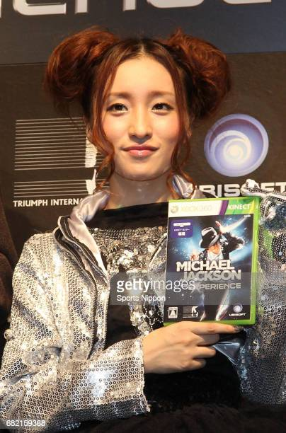 Former member of NMB48/AKB48 Ayaka Umeda attends Xbox video game' Michael Jackson the experience' launch promotional event on November 28 2011 in...