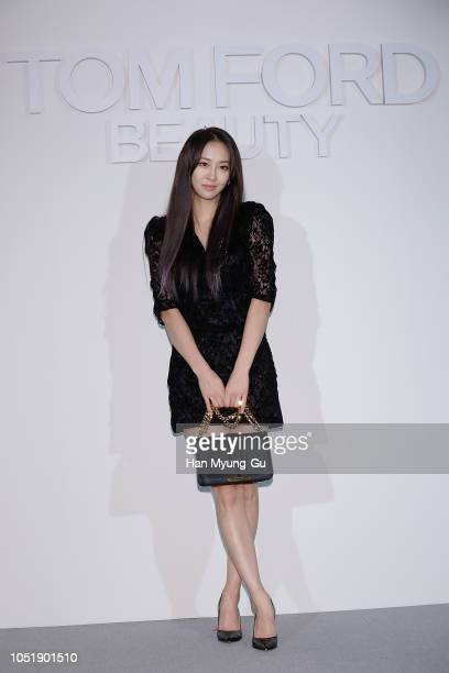 Former member of South Korean girl group SISTAR, Dasom attends the photocall for the TOM FORD Beauty on October 11, 2018 in Seoul, South Korea.