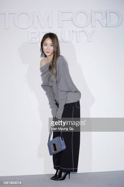 Former member of South Korean girl group SISTAR, Soyou attends the photocall for the TOM FORD Beauty on October 11, 2018 in Seoul, South Korea.