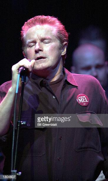 Former member of the group The Eagles Don Henley entertains thousands at a tribute concert in midtown St Louis November 3 2000 for the late Missouri...