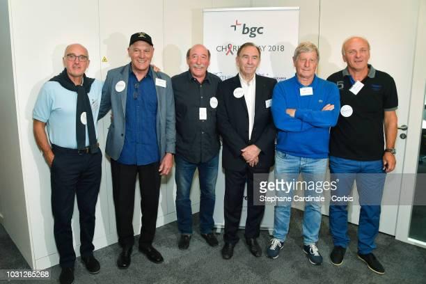 Former members of Saint Etienne Football team Christian Sarramagna, Osvaldo Piazza, Herve Revelli, Ivan Curkovic, Jean Michel Larque and Dominique...