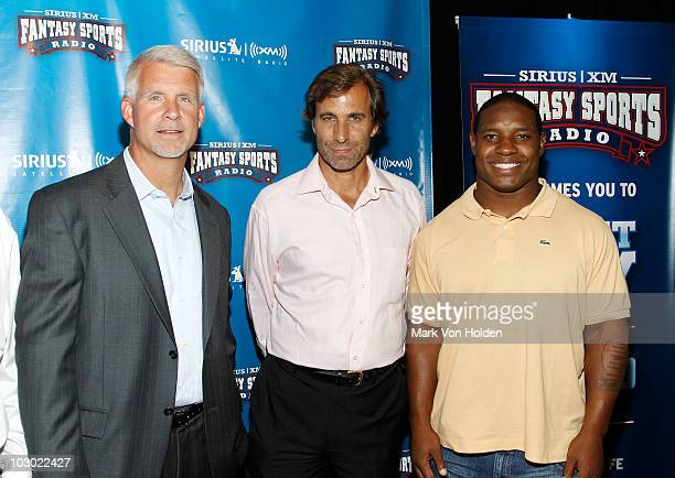 Former Mets general manager, Steve Phillips, Chris 'Mad Dog' Russo and football player Maurice Jones-Drew attend the SIRIUS XM Radio celebrity...