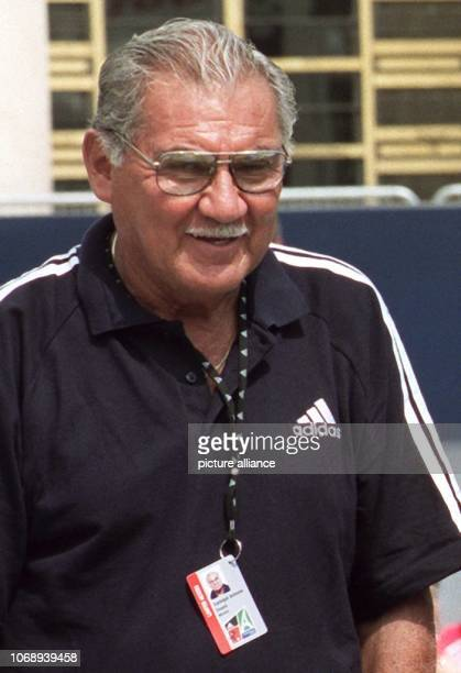 Former Mexican goalkeeper Antonio Carbajal pictured ahead of the 1998 Soccer World Cup in Paris France 6 June 1998 The now 70yearold Carbajal played...