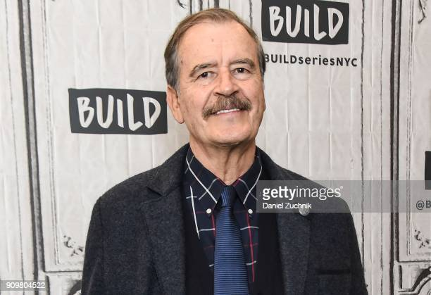 Former Mexican President Vicente Fox attends the Build Series to discuss his new book 'Let's Move On Beyond Fear False Prophets' at Build Studio on...