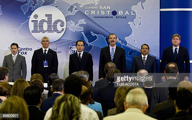 Former Mexican President Vicente Fox Rogelio Carbajal National Action Party Secretary General Pier Ferdinando Casini IDC coPresident Cesar Nava...