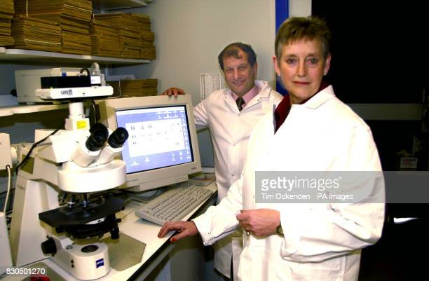 Former MI5 Chief Dame Stella Rimington Chairman of the Institute of Cancer Research and former jockey Bob Champion at the official opening of the 32...
