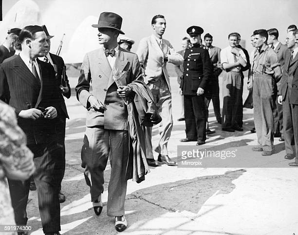 Former MI6 officer Sir Paul Dukes seen here at Heston Airport just after returning from Berlin Dukes declined to comment on his business in Nazi...