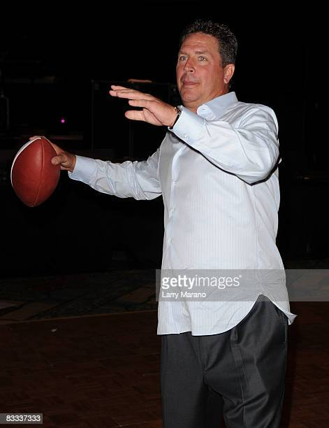 Former Miami Dolphin quaterback Dan Marino poses at the 8th Annual Bubbles and Bows Gala benefitting Here's Help at Westin Diplomat on October 17...
