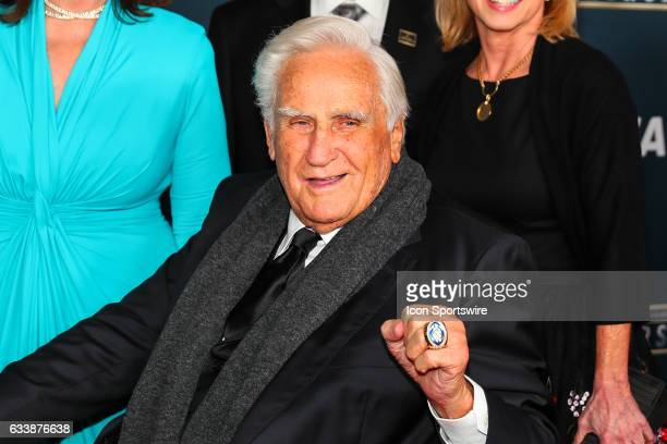 Former Miami Dolphins head coach Don Shula on the Red Carpet at the 2017 NFL Honors on February 04 at the Wortham Theater Center in Houston Texas
