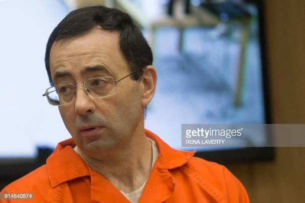 Former Michigan State University and USA Gymnastics doctor Larry Nassar appears in court for his final sentencing phase in Eaton County Circuit Court...