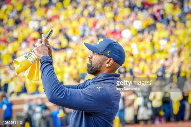 Former Michigan Wolverines and NFL star Charles Woodson prior to the Michigan Wolverines versus Nebraska Cornhuskers game on Saturday September 22...