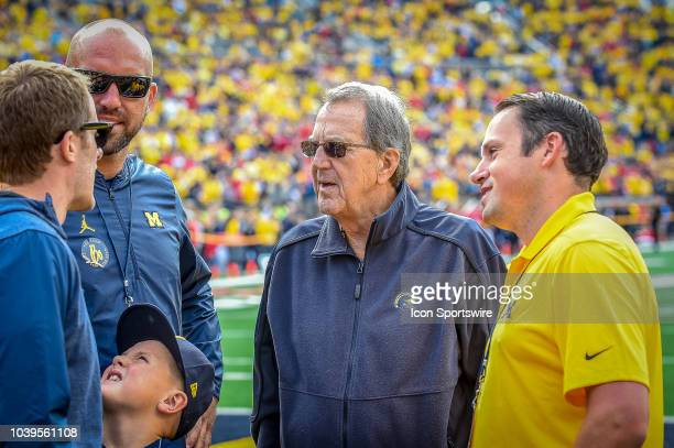Former Michigan Wolverines Head Coach Lloyd Carr prior to the Michigan Wolverines versus Nebraska Cornhuskers game on Saturday September 22 2018 at...