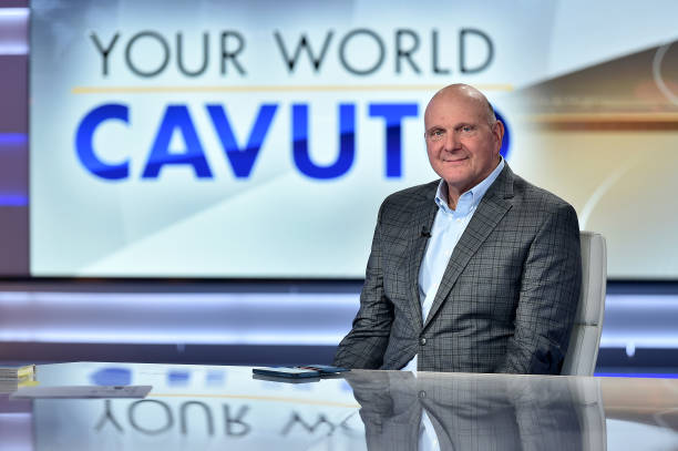 "NY: Former Microsoft CEO & LA Clippers Owner Steve Ballmer Visits ""Your World With Neil Cavuto"""