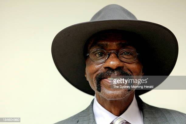 Former middleweight world champion contender Rubin The Hurricane Carter photographed in Sydney before a fundraising dinner for JusticeWA in Perth