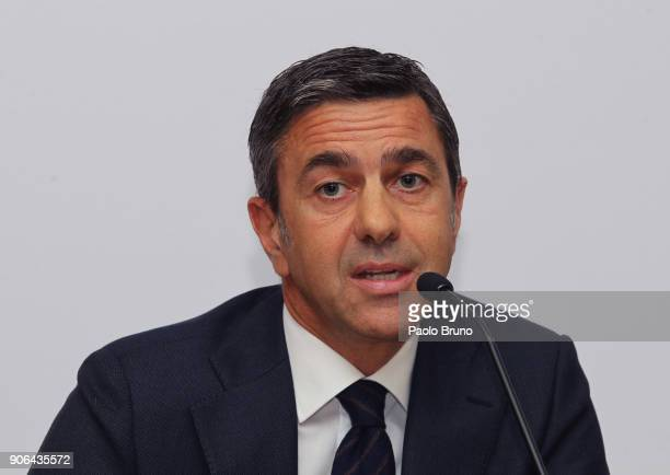 Former Milan player Alessandro Costacurta attends the Italian Football Federation and USSI Seminar at Giulio Onesti sport center on January 18 2018...