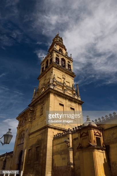 Former minaret now bell tower of the Cordoba Cathedral of Our Lady of the Assumption