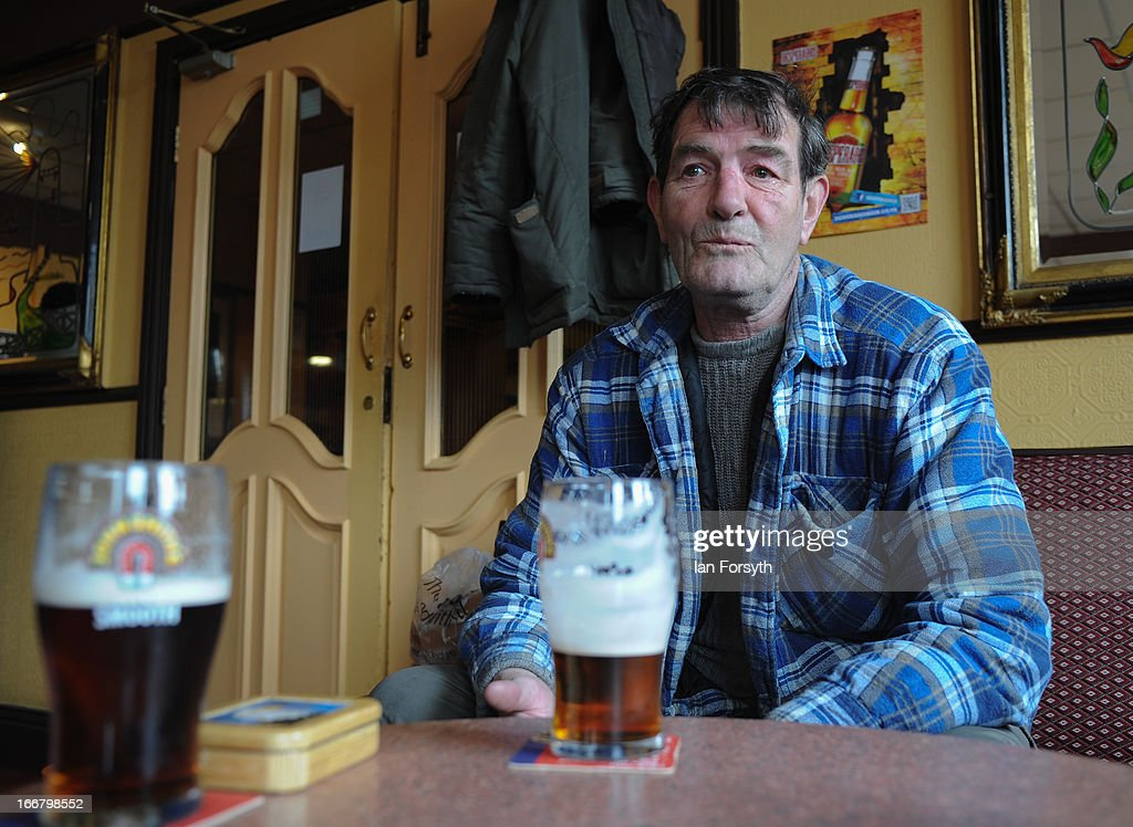 Former miner Les Ingram enjoys a pint in the Victory Pub on the 20th anniversary of the closure of the colliery in Easington on April 17, 2013 in Easington, England. Former miners and their families are today holding a commemoration party for the closure of the pit at Easington Colliery; coinciding with the ceremonial funeral for Baroness Thatcher, who took on the mining union during the miners' strike which ultimately led to the closure of the mines and the loss of jobs. Dignitaries from around the world today join Queen Elizabeth II and Prince Philip, Duke of Edinburgh as the United Kingdom pays tribute to former Prime Minster Baroness Thatcher during a Ceremonial funeral with military honours at St Paul's Cathedral. Lady Thatcher, who died last week, was the first British female Prime Minister and served from 1979 to 1990.
