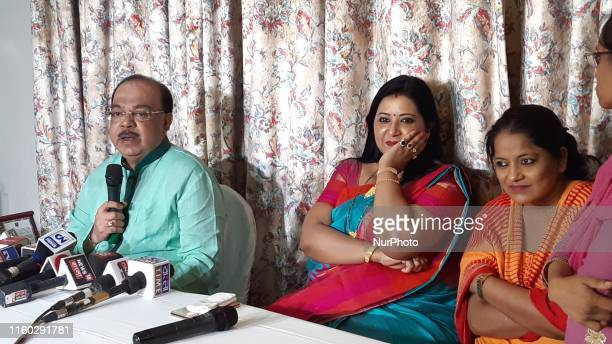 Former Minister and Mayor of Kolkata Shri Sovon Chatterjee along his friend Baishakhi Banerjee jointly Meet the Press conference on August 072019 in...
