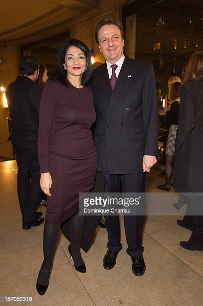 Former Minister and member of the French Council of State Jeannette Bougrab and President of the FrenchAmerican Foundation JeanLuc Allavena attend...