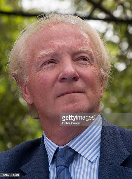 Former minister Brice Hortefeux attends the second day of the National association of the friends of Nicolas Sarkozy on August 25 2012 in Nice France