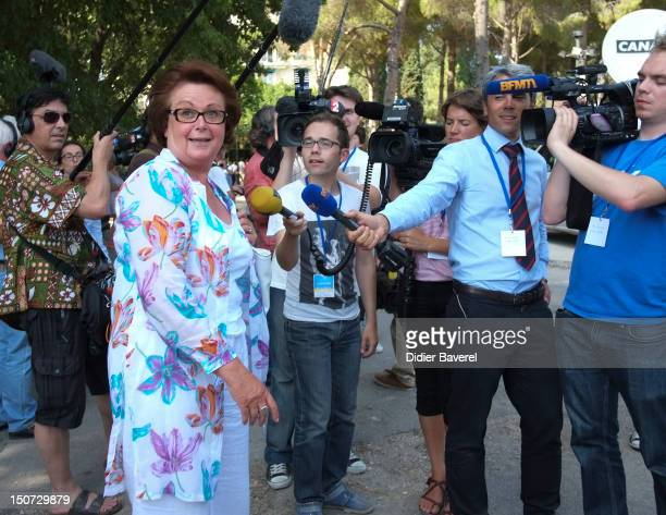 Former minister Christine Boutin attends the first Rally of the association The friends of Nicolas Sarkozy on August 24 2012 in Nice France